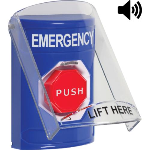 Safety Technology Blue Stopper Station, Sti-6517a Shield Cover With