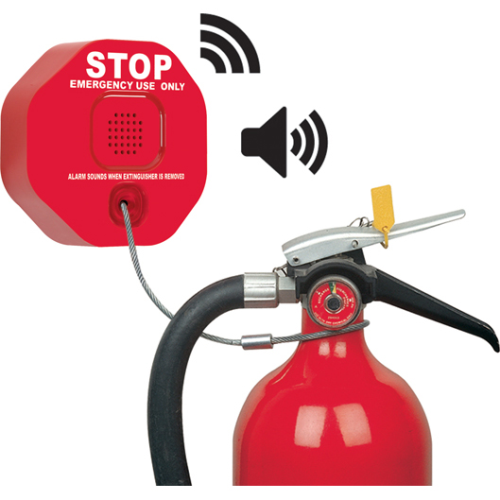 WIRELESS FIRE EXTINGUSHER THEFT STOPPER