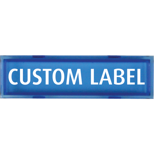 Blue Custome Label