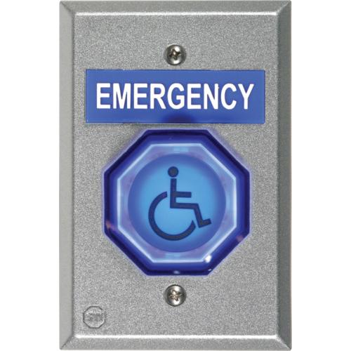 "Safety Technology Universal Button, 2"" W/ Lt-1ul"