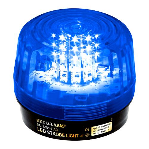 Enforcer LED Strobe Light, 54 LEDs, 100dB Siren, 10~24 VAC/VDC, Blue