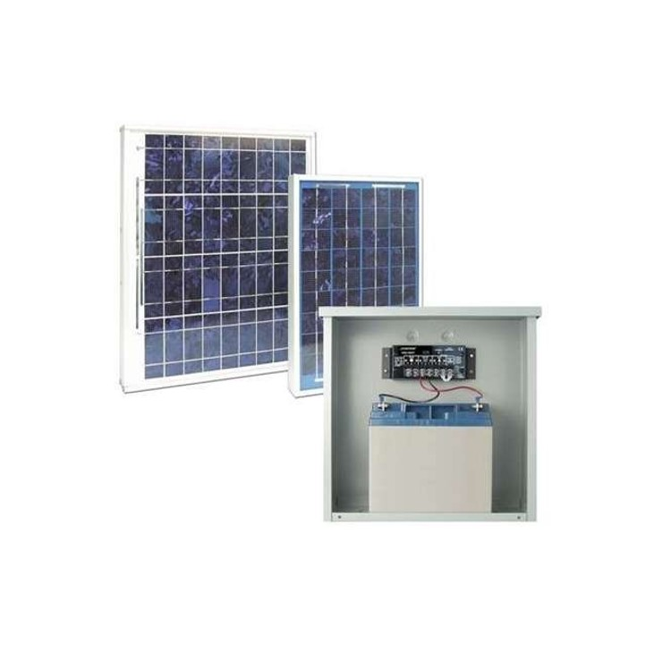 Securitron Bpss-20 Solar Power Supply, 12v With 20w Solar Panel And 18ah Battery
