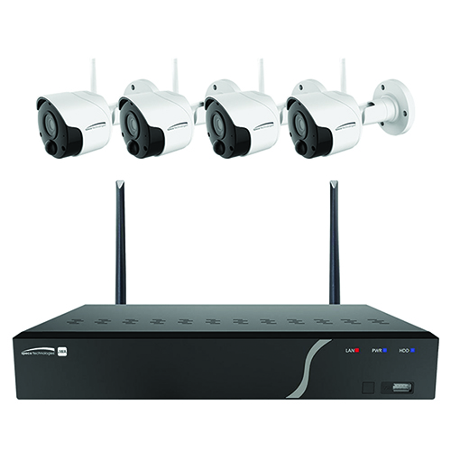 Speco 4 Channel Wireless NVR Kit with Four 2MP Wireless IP Cameras, 1TB