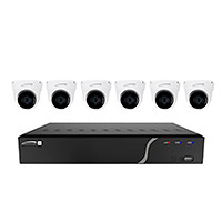 8-Channel H.265 NVR with 6 IP Turret Cameras, 2.8mm