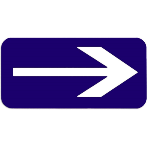 Directional Arrow Sign, 3? 6?