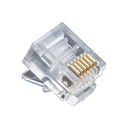 Platinum Tools RJ-12 (6P6C), Flat Cable, Stranded Wire, 100 pc. Jar