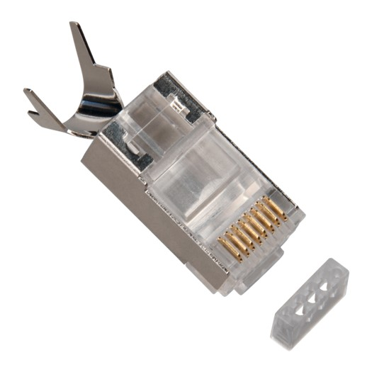 Platinum Tools RJ45 Cat6A 10 Gig Shielded w/Liner, Stranded. 10/Clamshell