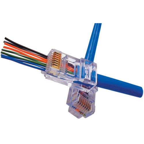 Platinum Tools EZ-RJ45 CAT5/5e Connectors, Jar of 100.