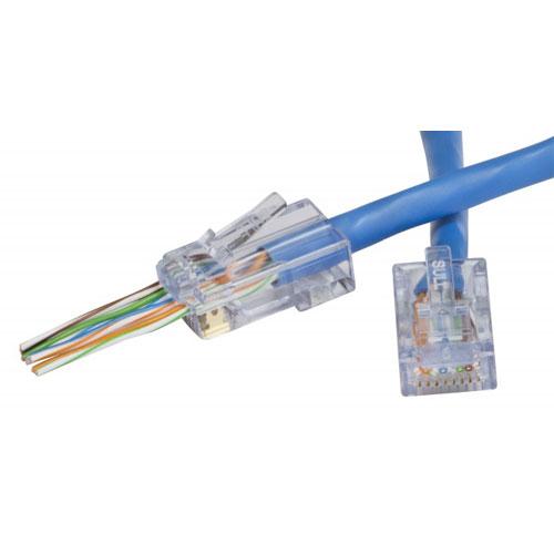 Platinum Tools EZ-RJ45 CAT6 Connectors. 100/Jar