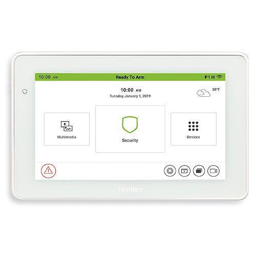 """Resideo TUXEDOWC Tuxedo Touch 7"""" Color Touchscreen Keypad with Smart Control & Voice Annunciation"""