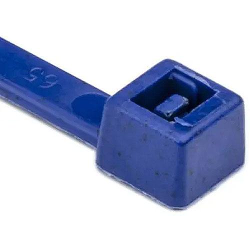 "HellermannTyton 111-00831 Metal Content Tie, 15"" Long, 50lb Tensile Strength, PA66MP, Blue, 100/pkg"