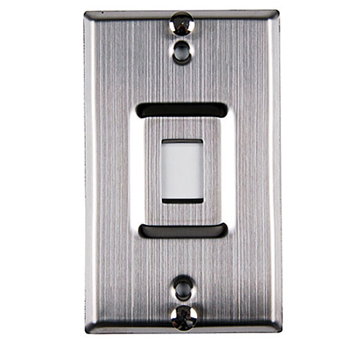 Stainless steel single port phone faceplate