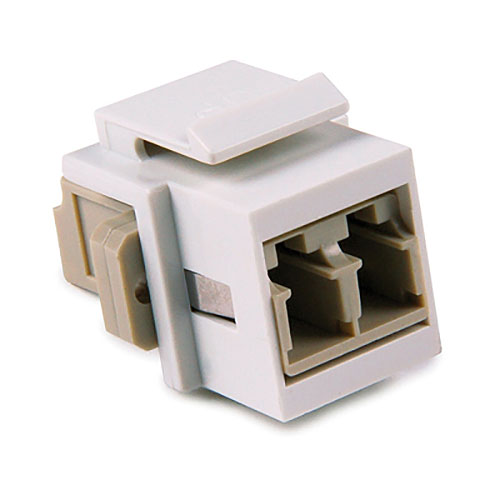 HellermannTyton LCMMINSERT-W LC Multimode Fiber Module, Beige, White, 1/pkg