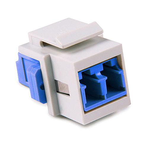HellermannTyton LCSMINSERT-W LC Singlemode Fiber Module, Blue, White, 1/pkg