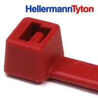 """HellermannTyton Cable Tie, 8"""" Long, UL Rated, 50lb Tensile Strength, PA66, Red, 1000/pkg"""