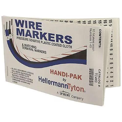 Handi-Pak, 10 Markers Each 1-45, White, 1/pkg