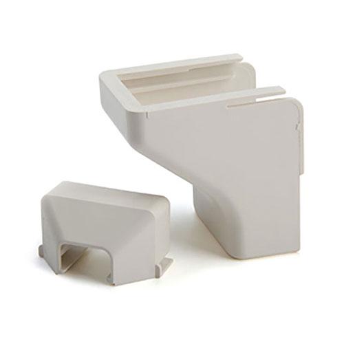 "HellermannTyton TSR2FW-50 Ceiling Drop, 1-1/4"", 2-Piece, PVC, Office White, 10 Individual/bag"