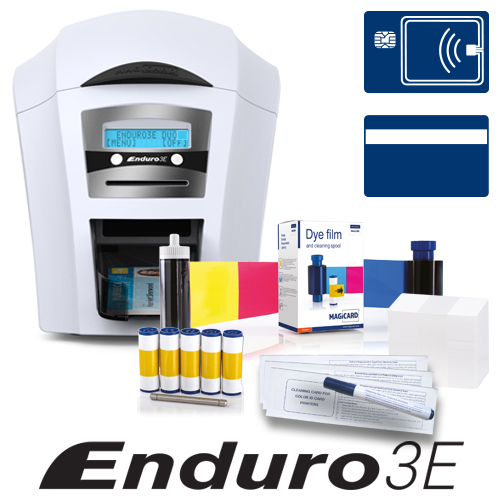 ENDURO3E DBL SIDED MAG AND SMART CRD PRNTR BNDL