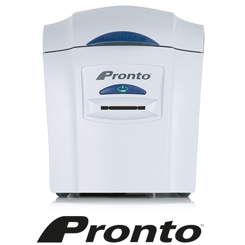 Magicard Pronto Dye Sublimation/Thermal Transfer Printer - Color - Gray - Desktop - Card Print