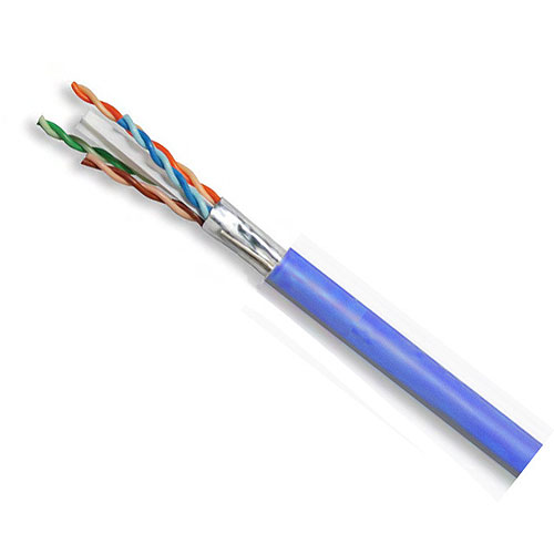Superior Essex 6A-272-2B Shielded 10Gain Category 6 Plenum Cable, Blue, 1000 ft. Reel