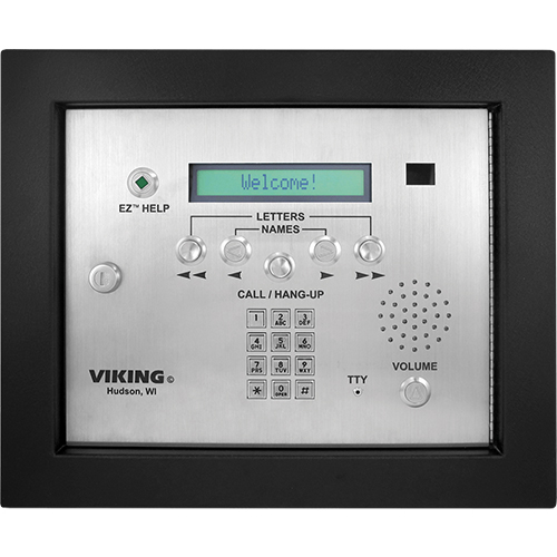 Viking Electronics Apartment Entry System with Accessibility Features and Color Video, Flush Mount