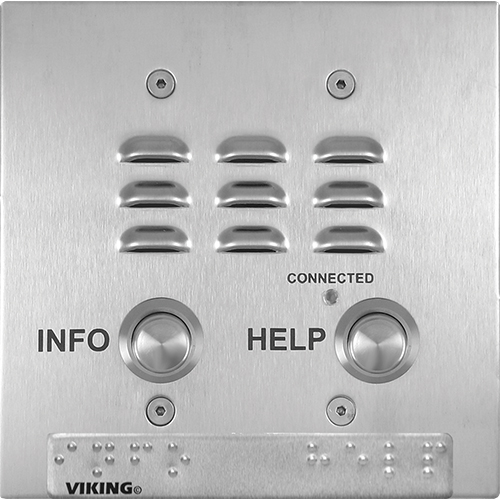 VOIP TWO BUTTON STAINLESS STEEL EMERGENCY PHONE FL
