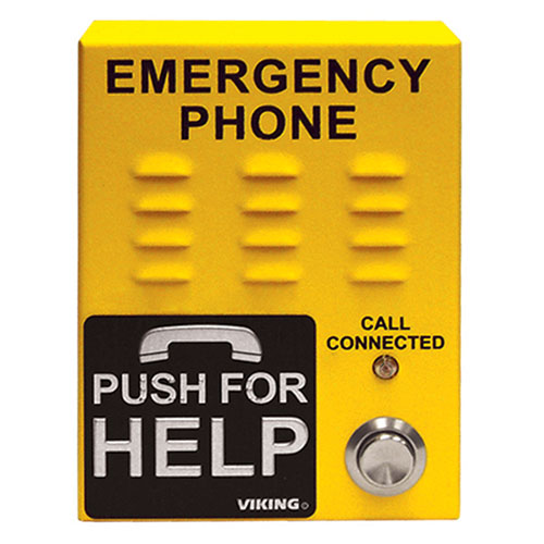 VOIP EMERGENCY PHONE, SAFETY YELLOW, SURFACE MOUNT