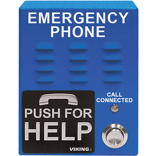 EMERGENCY PHONE WITH VOICE EMERGENCY BLUE