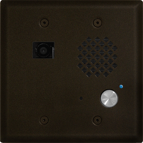 Viking Electronics Double Gang Entry Phone with Video Camera, Bronze Finish
