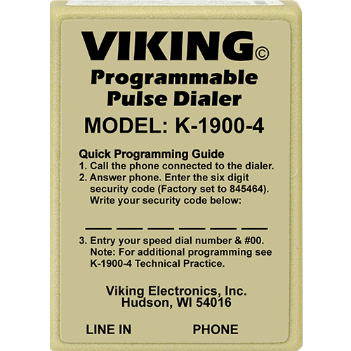 VIKING HOT LINE DIAL PULS ONLY
