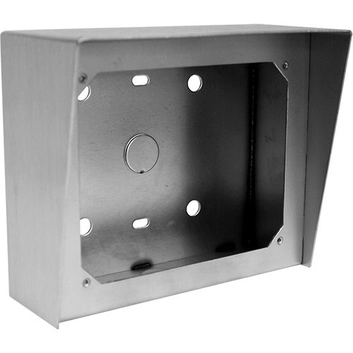 Viking Electronics Attractive, Vandal Resistant, Stainless Steel Surface Mount Box