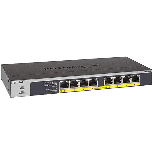 8-Port Gigabit Ethernet PoE+ Unmanaged Switch