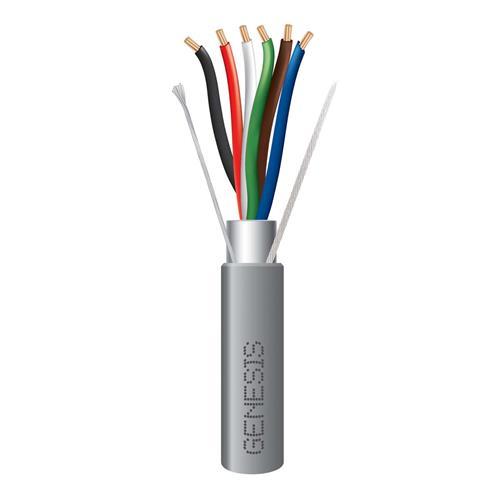 Genesis 22065509  22 AWG 6C Str Shielded Riser, Gray, 500 ft. Pull Box
