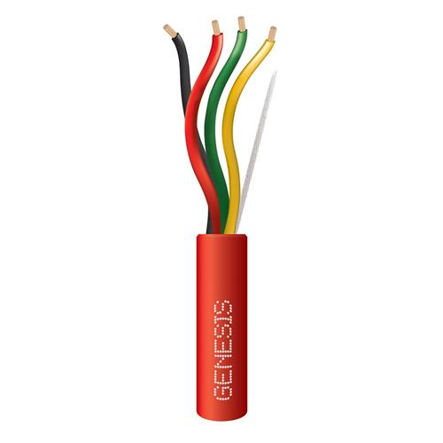 Genesis 45271004  14 AWG 4C Stranded Plenum Fire Cable, Red, 1000 ft. Reel