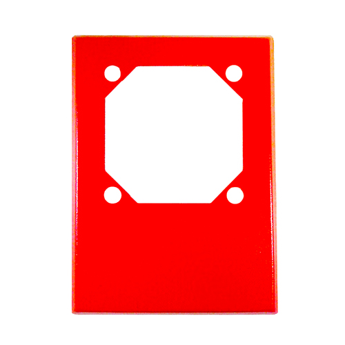 Cooper Wheelock RP-R Mounting Adapter - Red