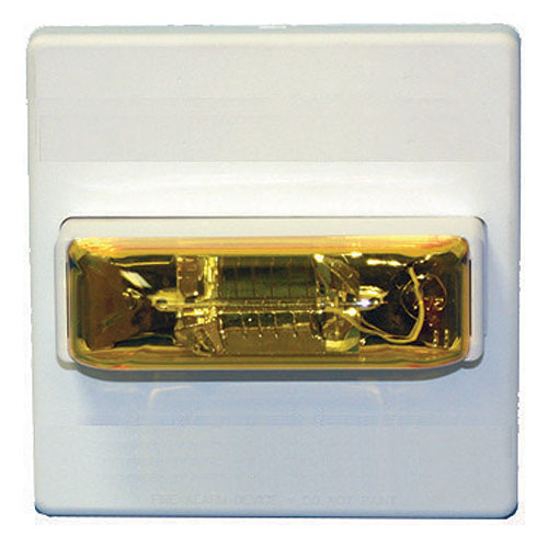 Eaton Wheelock MTA-24MCCH-NW Multitone Horn, Amber, Ceiling, 24V, 115/177CD, No Lettering, White