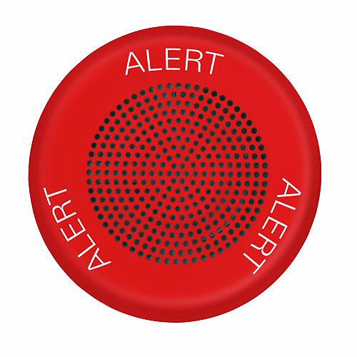 Eaton ELFHNRC-AL Eluxa Low Frequency Horn, Red, Ceiling, 24V, ALERT