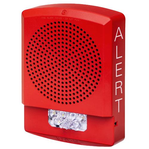 Eaton ELFHSR-AL Eluxa LED Low Frequency Horn Strobe, Red, Wall, 24V, 110/177CD, ALERT