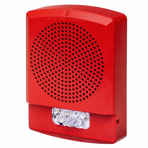 Eaton ELFHSR-N Eluxa LED Low Frequency Horn Strobe, Red, Wall, 24V, 110/177CD, No Lettering