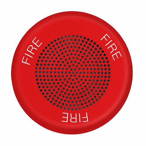 Eaton ELSPKRC Eluxa LED High Fidelity Speaker, Red, Ceiling, 24VDC, FIRE