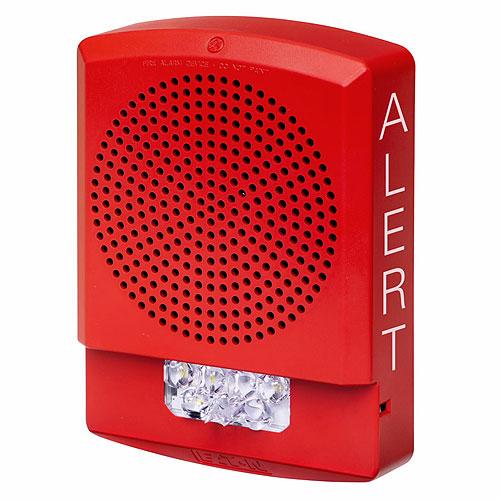 Eaton ELSPSTR-AL Eluxa LED High Fidelity Speaker Strobe, Red, Wall, 24VDC, 15/30/75/110/135/185CD, ALERT