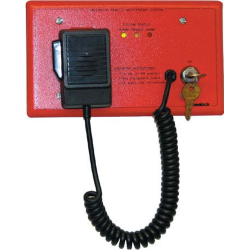 Eaton Wheelock SPRM-GP SAFEPATH General Paging Microphone for use with the SPB-320, SPB-160, or SPB-80/4, Black Plate