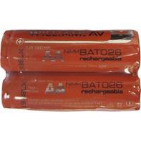 WilliamsAV BAT 026-2 Two AA NiMH Rechargeable Batteries, 1.2V, 1500 mAh