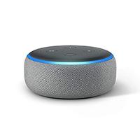 Amazon B07PDHSLM6 Echo Dot (3rd Gen) Smart Speaker with Alexa, Heather Grey