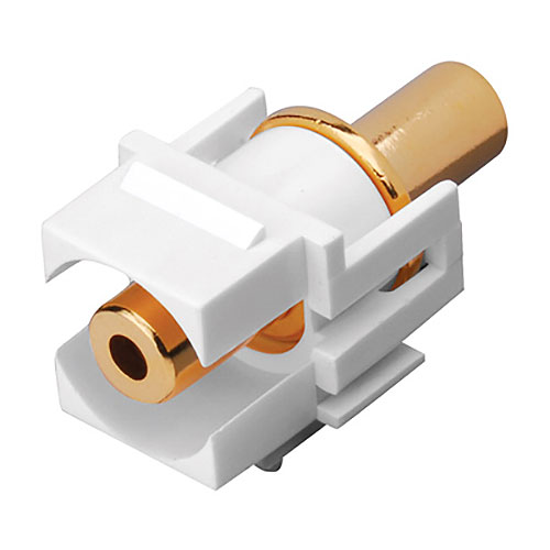 3.5mm White Keystone Jack