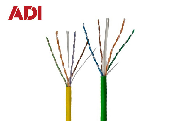 Cat6 23/4 Green Riser Cable  Cat6 23/4 Yellow Plenum Cable