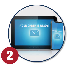 Get notified via email when ready