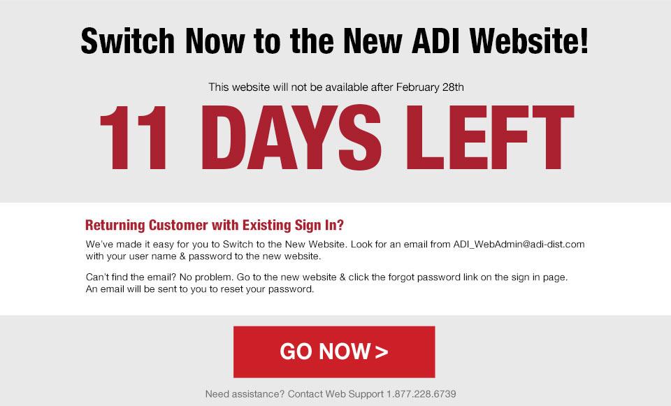 Go to the new ADI Website