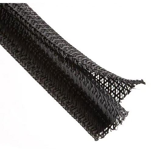 Techflex F6N1.50BK250 Flexo F6 1 1/2in. Split Tube, Semi-Rigid Braided Sleeving, Black, 250ft