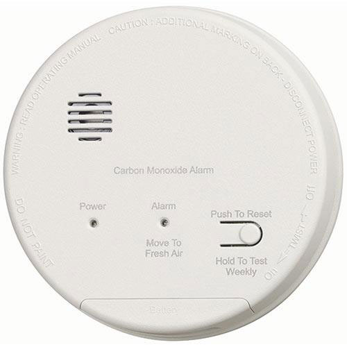GentexCO1209FCarbon Monoxide Alarm, 120V Hardwired Interconnectable w/9V Battery Backup, T4 Horn, & A/C Contacts